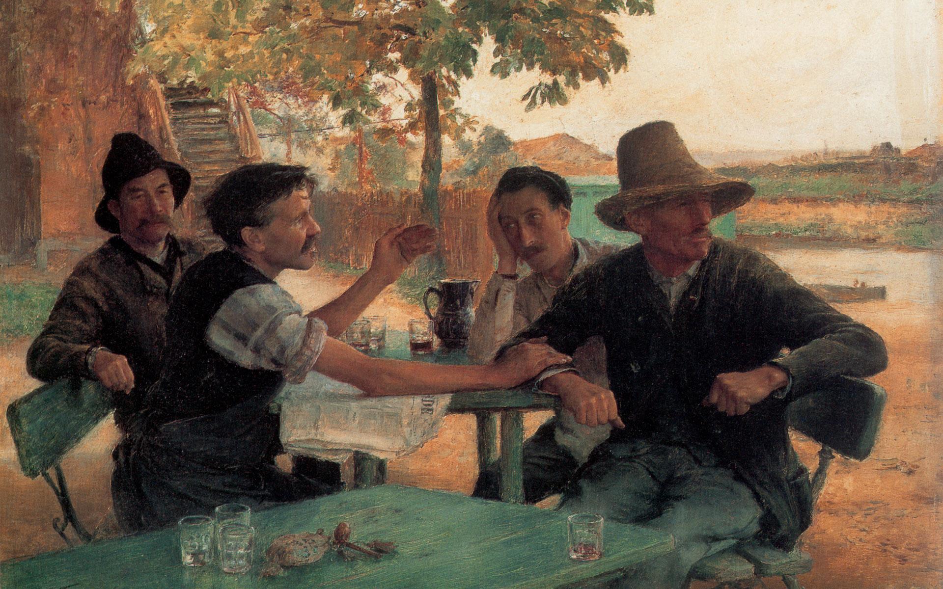 Эмиль Фриан - Спор о политике, 1889
