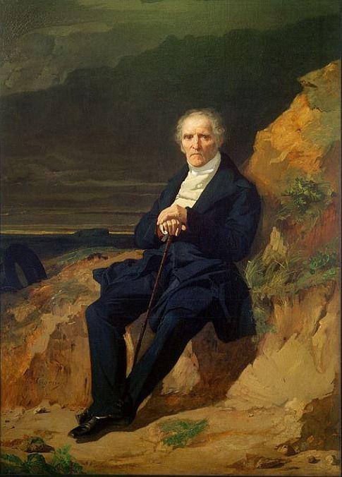 Жан Франсуа Жигу - Портрет Шарля Фурье, 1835