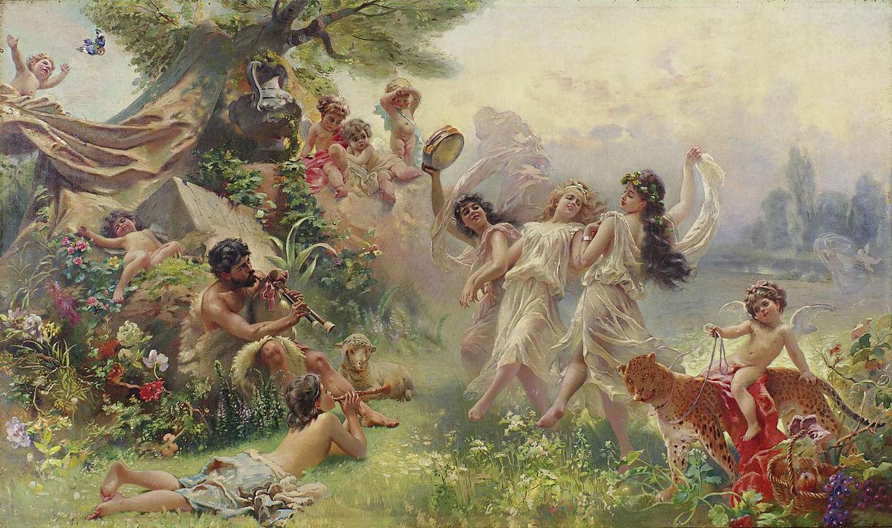 Константин Маковский. счастливая Аркадия, 1890