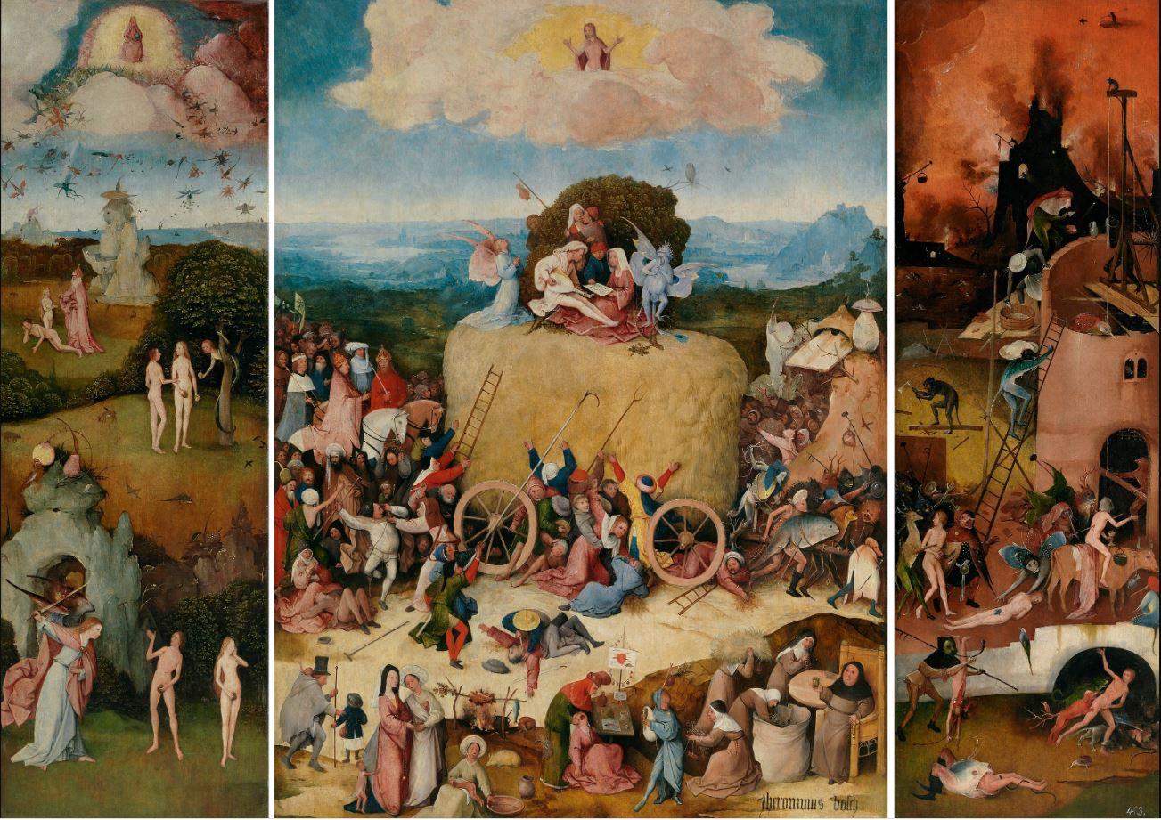 Иероним Босх - Воз сена, 1500-1502