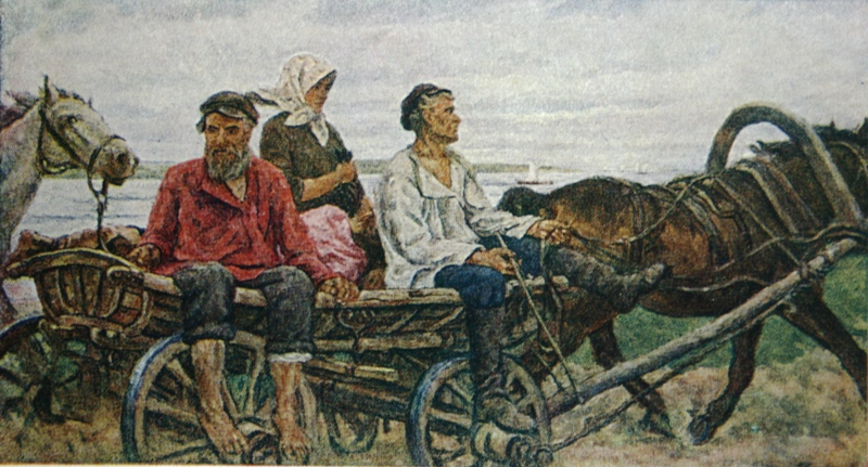 Петр Кончаловский. Возвращение с ярмарки