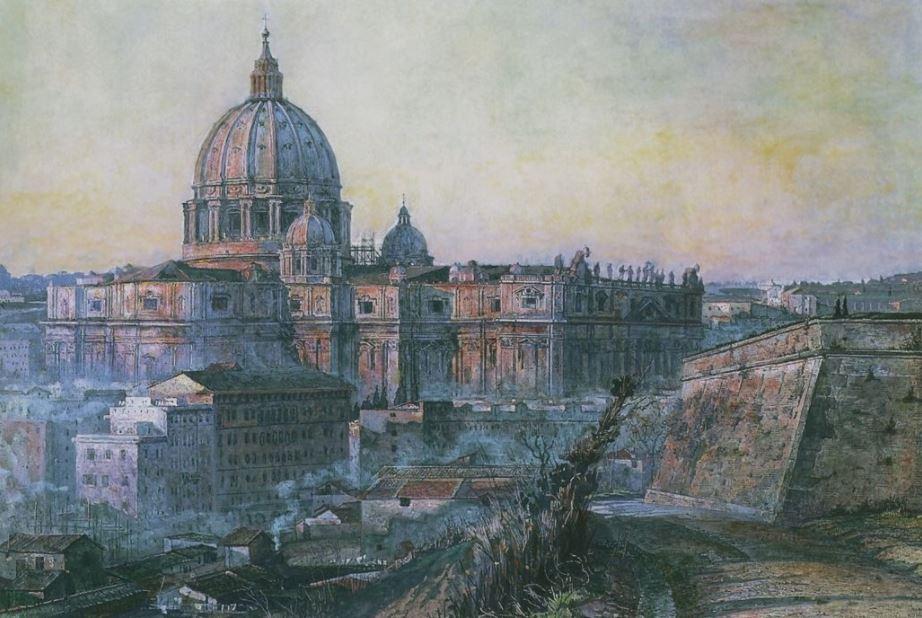 Павел Корин - Собор Святого Петра в Риме, 1932