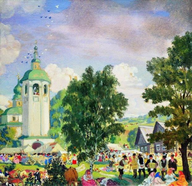 Борис Кустодиев. Сельский праздник