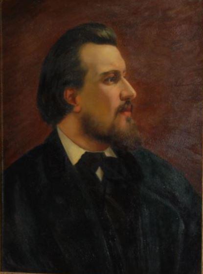 Антон Ледаков. Портрет Н.С. Лескова, 1872