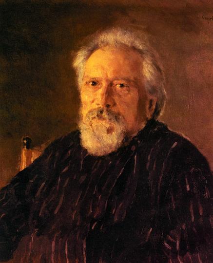 Валентин Серов. портрет писателя Н.С. Лескова, 1894