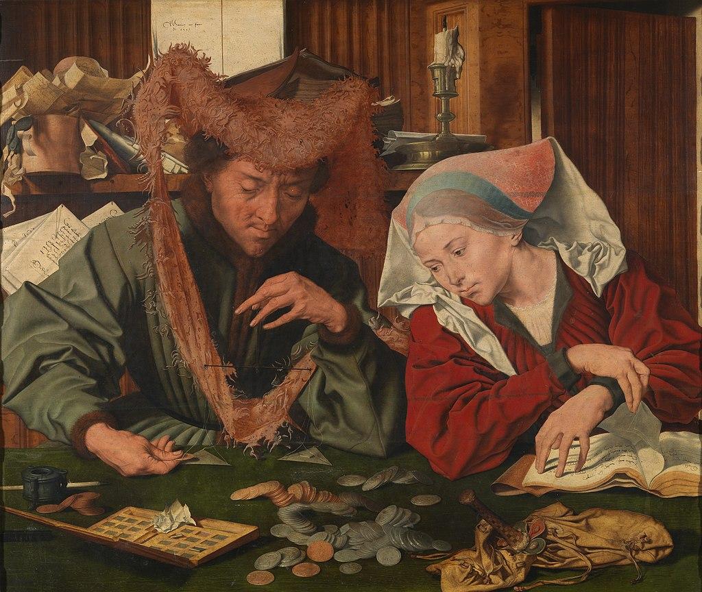 Маринус ван Реймерсвале - Меняла и его жена, 1539