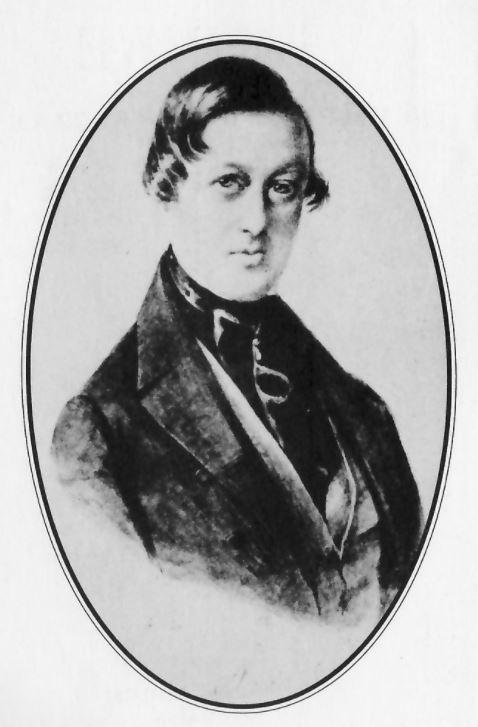 Портрет Кюстина - акварель графини Мену, 1846, Рим