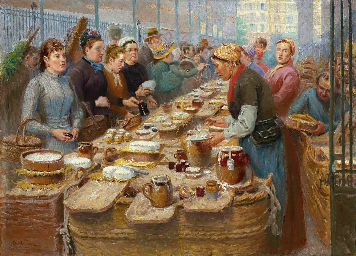 Эдуар-Жан Дамбурже - В молочной лавке, 1889