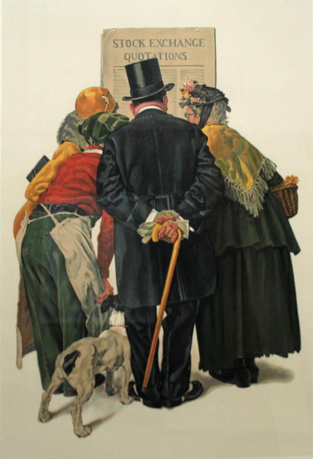 Норман Роквелл - «Люди читают биржевые сводки»