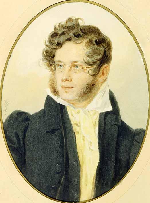 П.Ф. Соколов - Портрет П.А. Вяземского, 1824