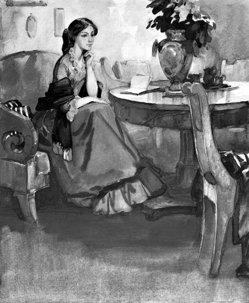 Владимир Панов -Иллюстрация к роману И. С. Тургенева «Накануне», 1977