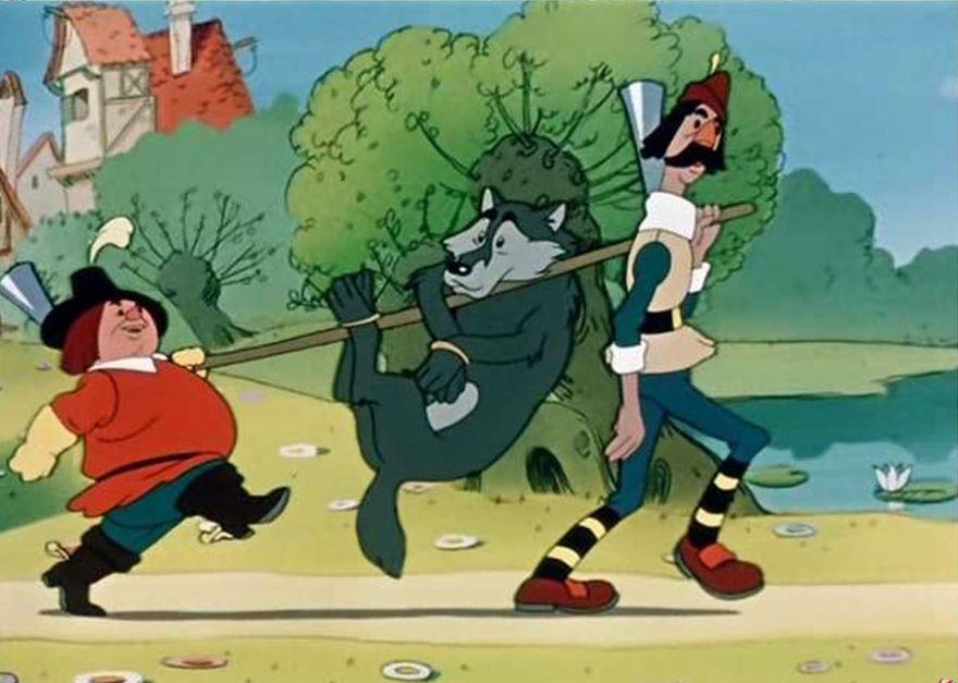 Кадр из мультфильма Петя и Красная шапочка, 1958