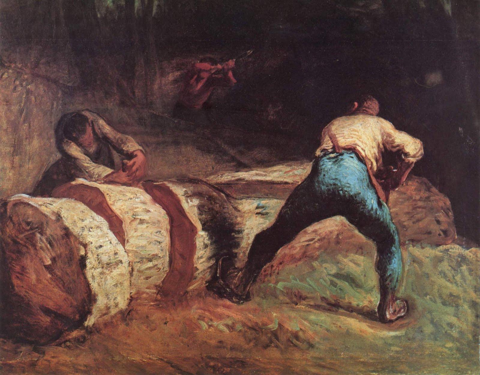Жан Милле. Пильщики в лесу