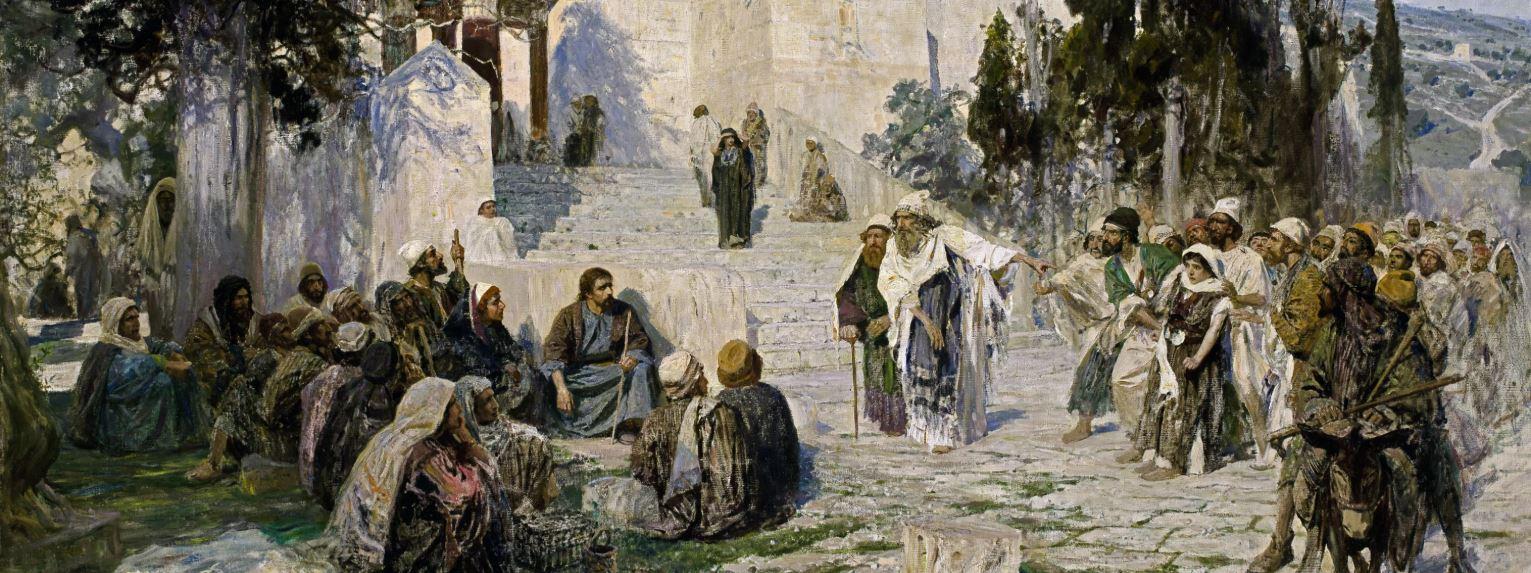 Василий Поленов - Христос и грешница, 1888