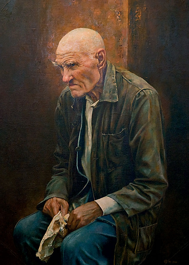 Сергей Моисеенко - Портрет деда, 1999-2000