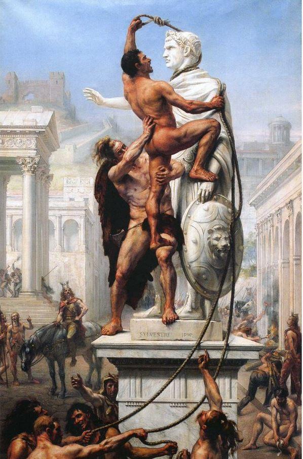 Жозеф-Ноэль Сильвестр - Разграбление Рима варварами в 410 году, 1890