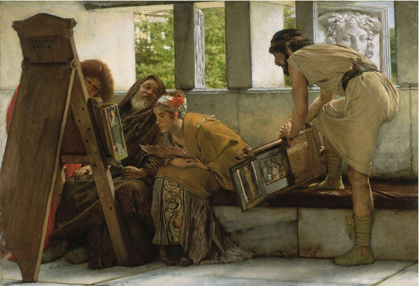 Лоуренс Альма-Тадема - В римской мастерской, 1874