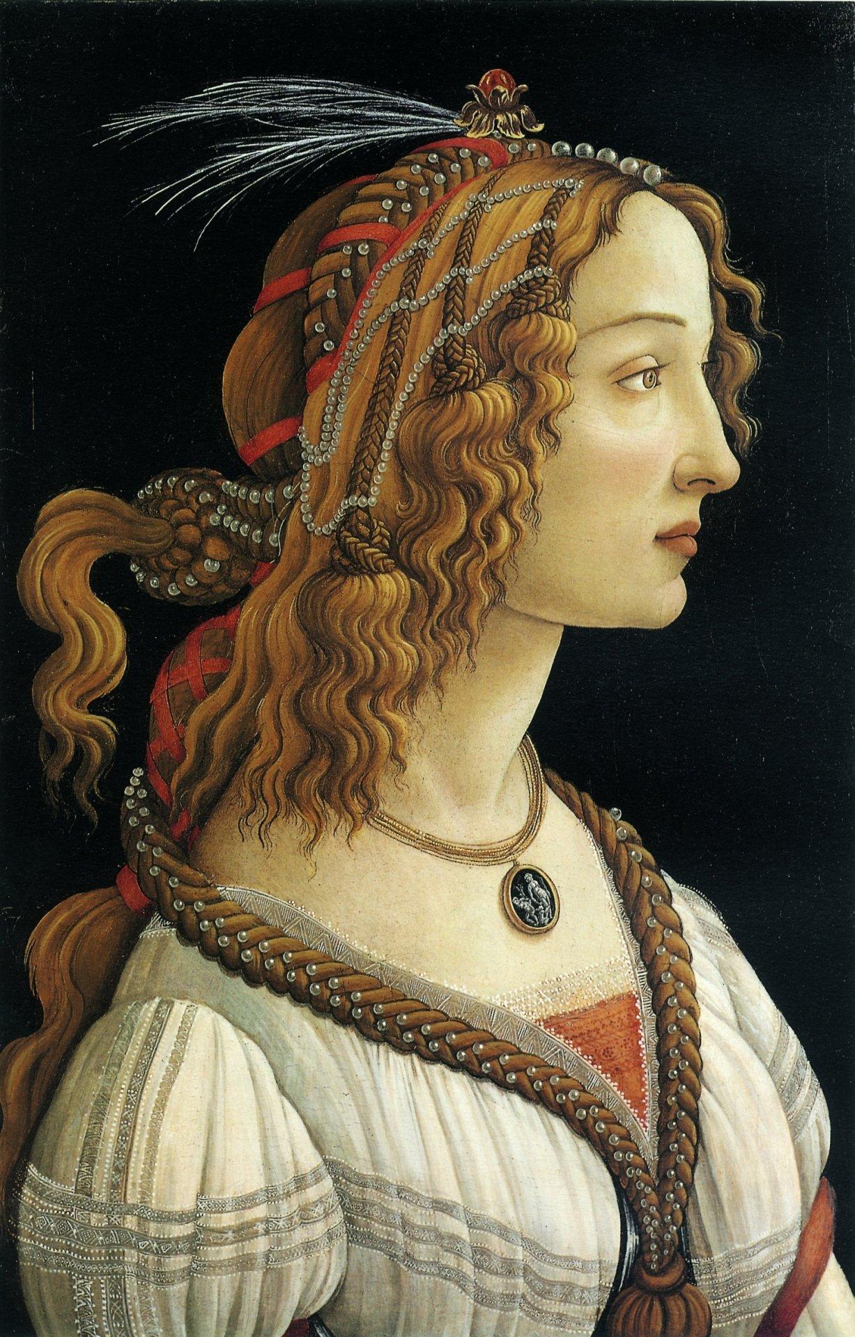 Сандро Боттичелли - Портрет молодой женщины, 1480—1485