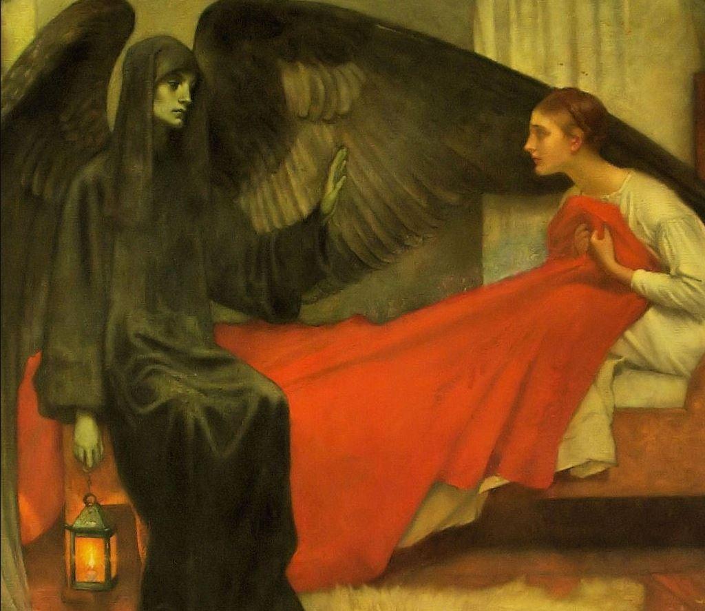 Пьер Сесиль Пюви де Шаванн - Девушка и смерть, 1872