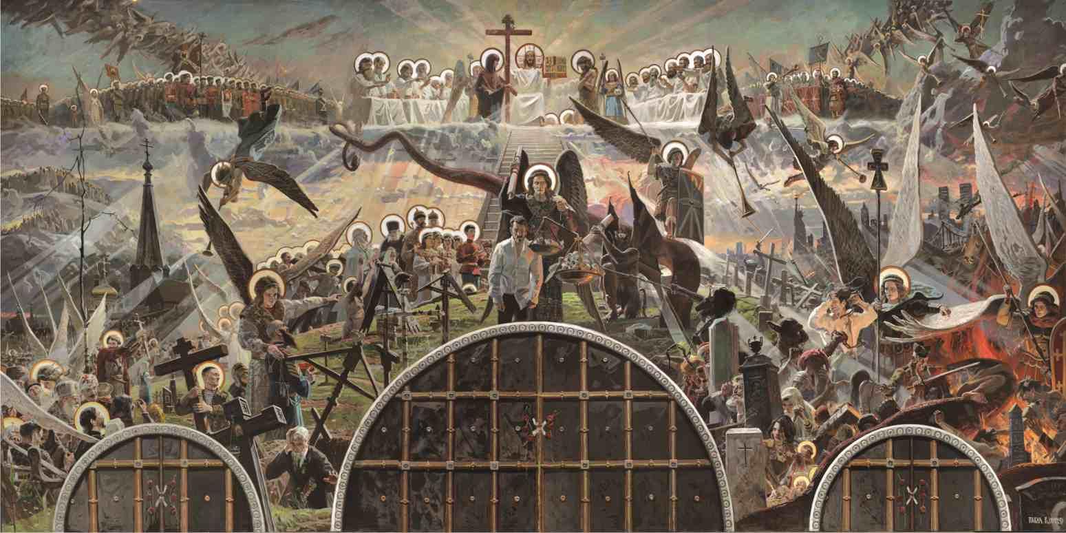 Павел Рыженко. Страшный суд. Фреска в Преображенском храме г. Якутска