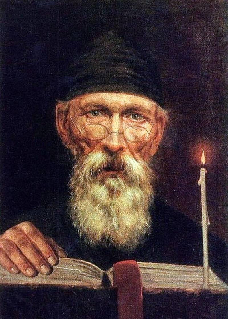 Василий Тропинин - Монах со свечой, 1834