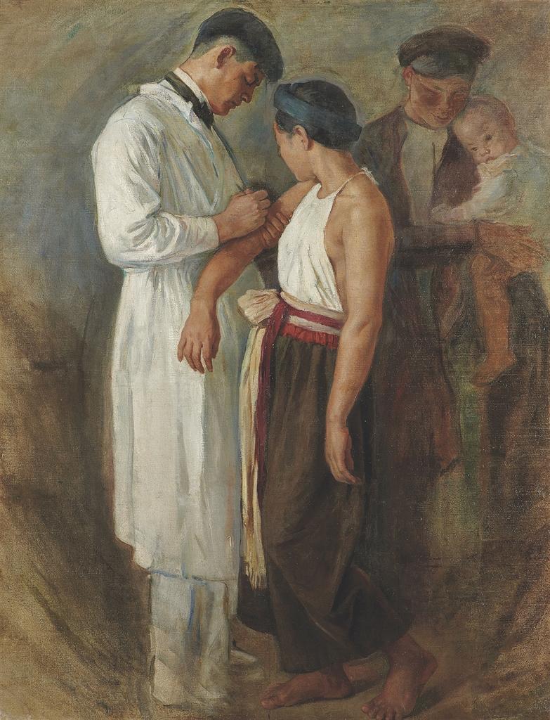Виктор Тардьё - Вакцинация, 1923