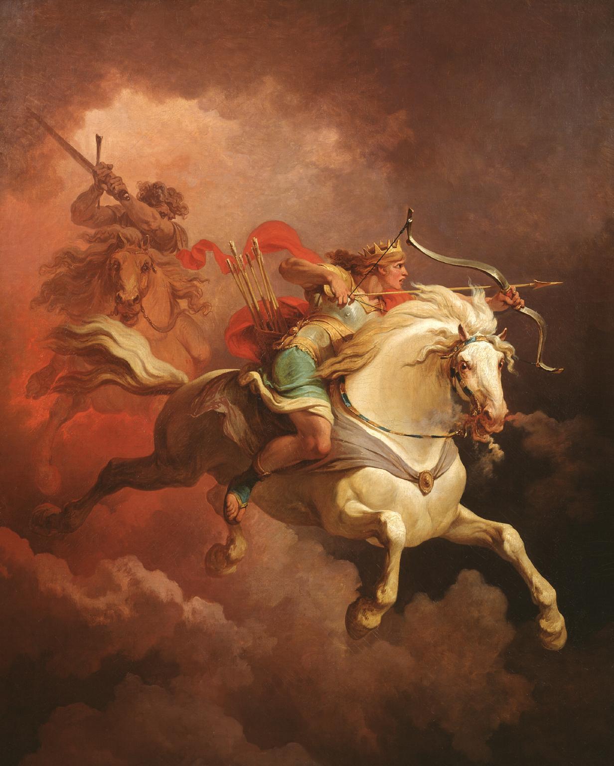 Филипп Якоб Лютербург. Видение белого всадника