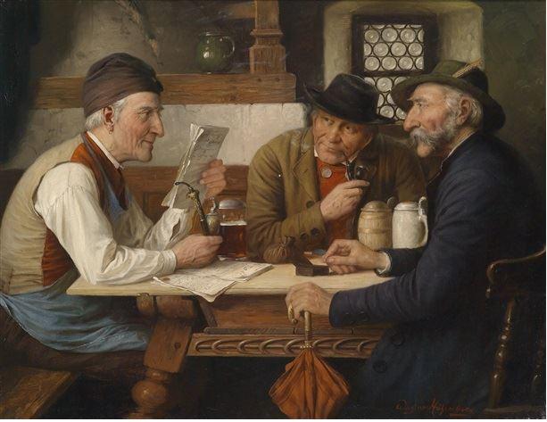 Йозеф Вагнер-Гогенберг (1870-1938) - Встреча в таверне