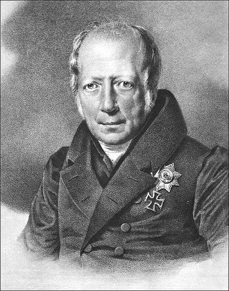 Франц Крюгер - Портрет В. фон Гумбольдта (литография), предположительно ранее 1835 г.