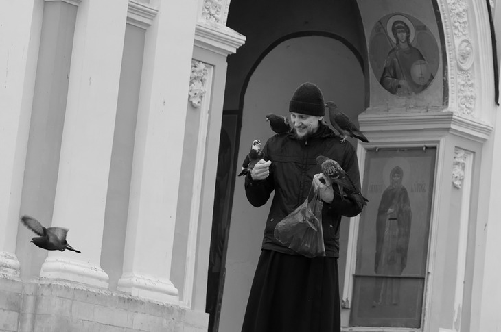 Сергей Добка - Окормляющий голубей