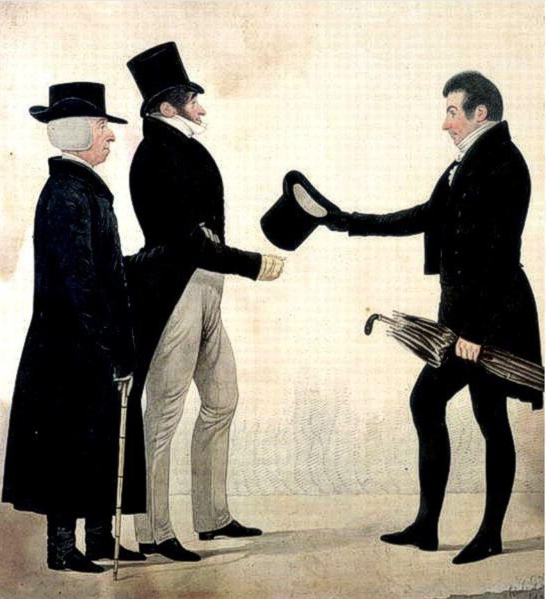 Ричард Дайтон (1795-1880) - Три джентльмена приветствуют друг друга