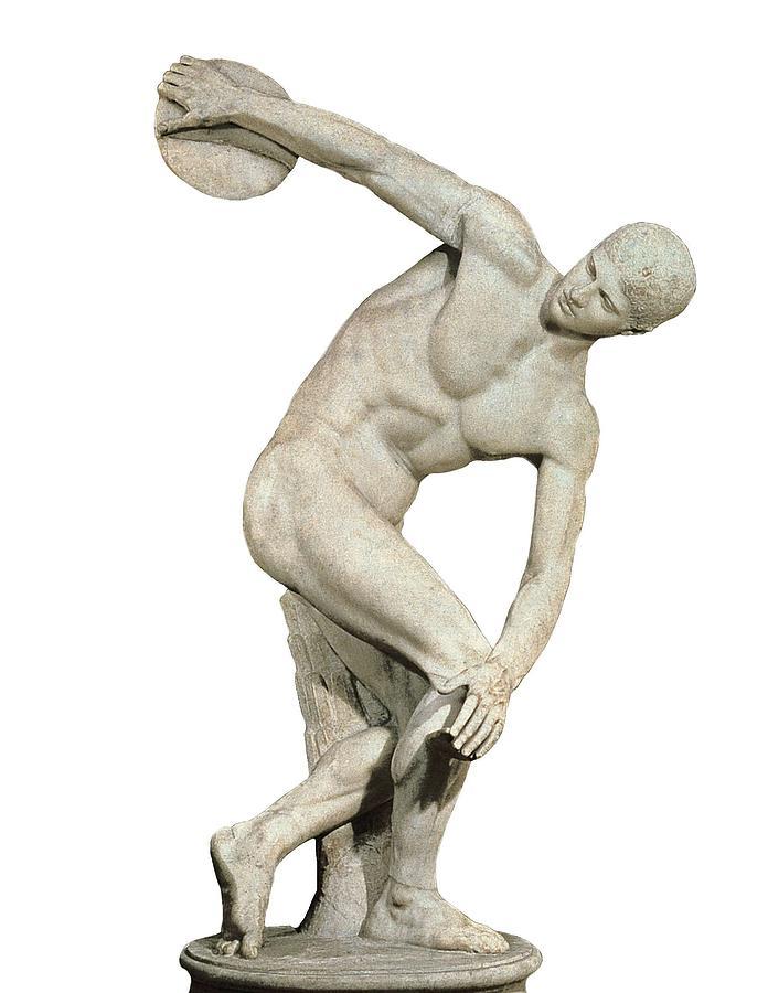 «Дискобол Ланчелотти», римская копия с оригинала Мирона V в. до н. э.