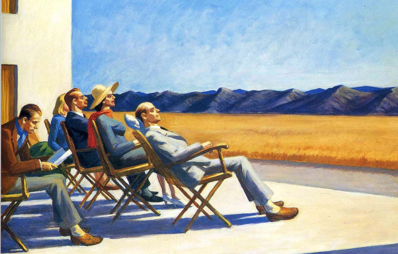 Эдвард Хоппер «Люди под солнцем», 1960