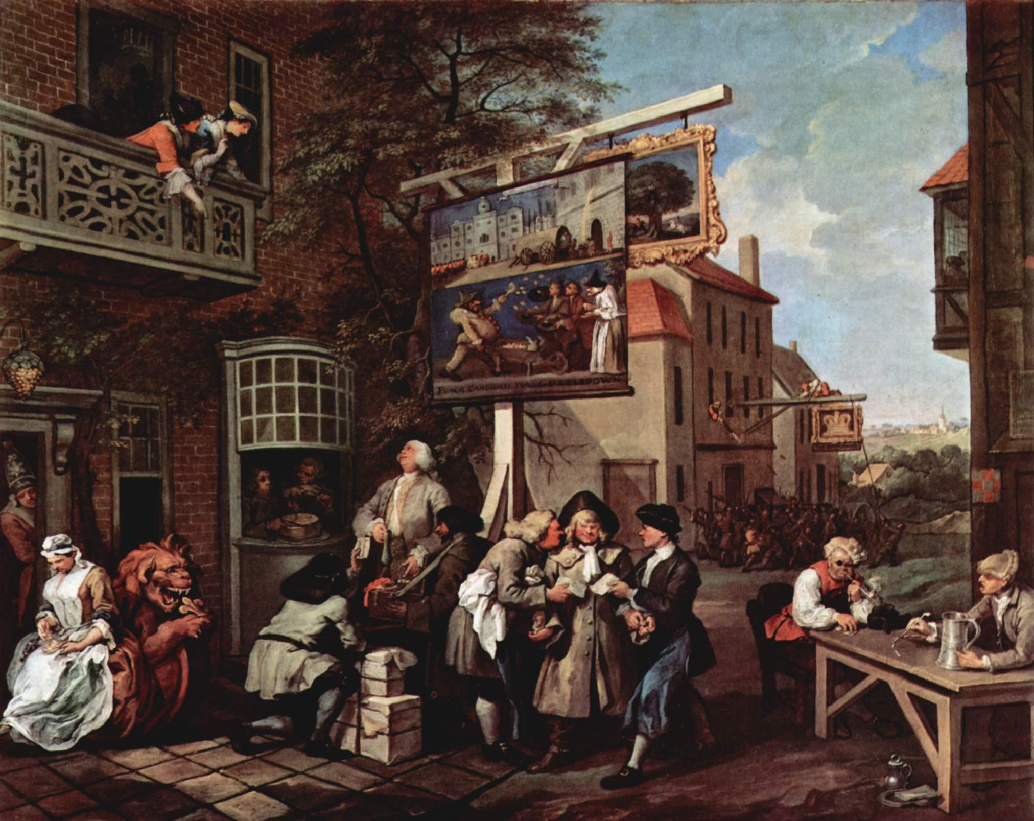 Уильям Хогарт - Предвыборная агитация, 1754-1755