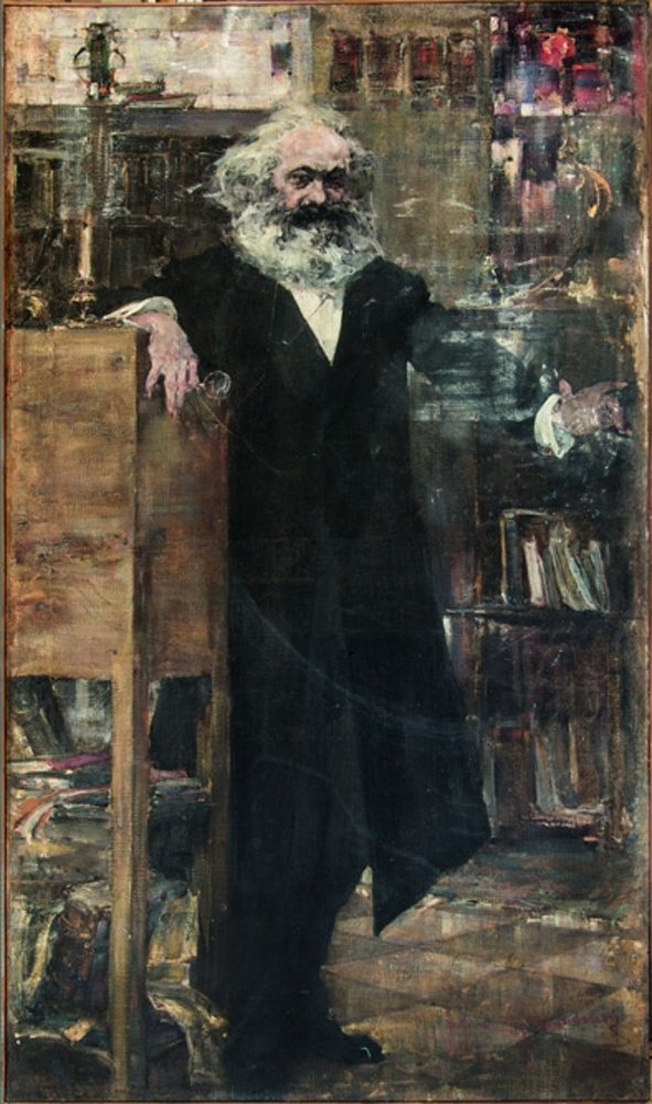 Николай Фешин - Карл Маркс, 1918-1919