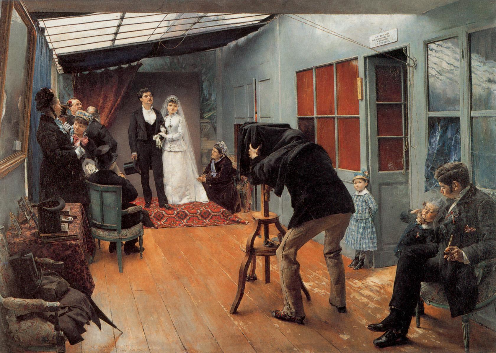 Паскаль Даньян-Буве - Свадьба в ателье фотографа, 1879