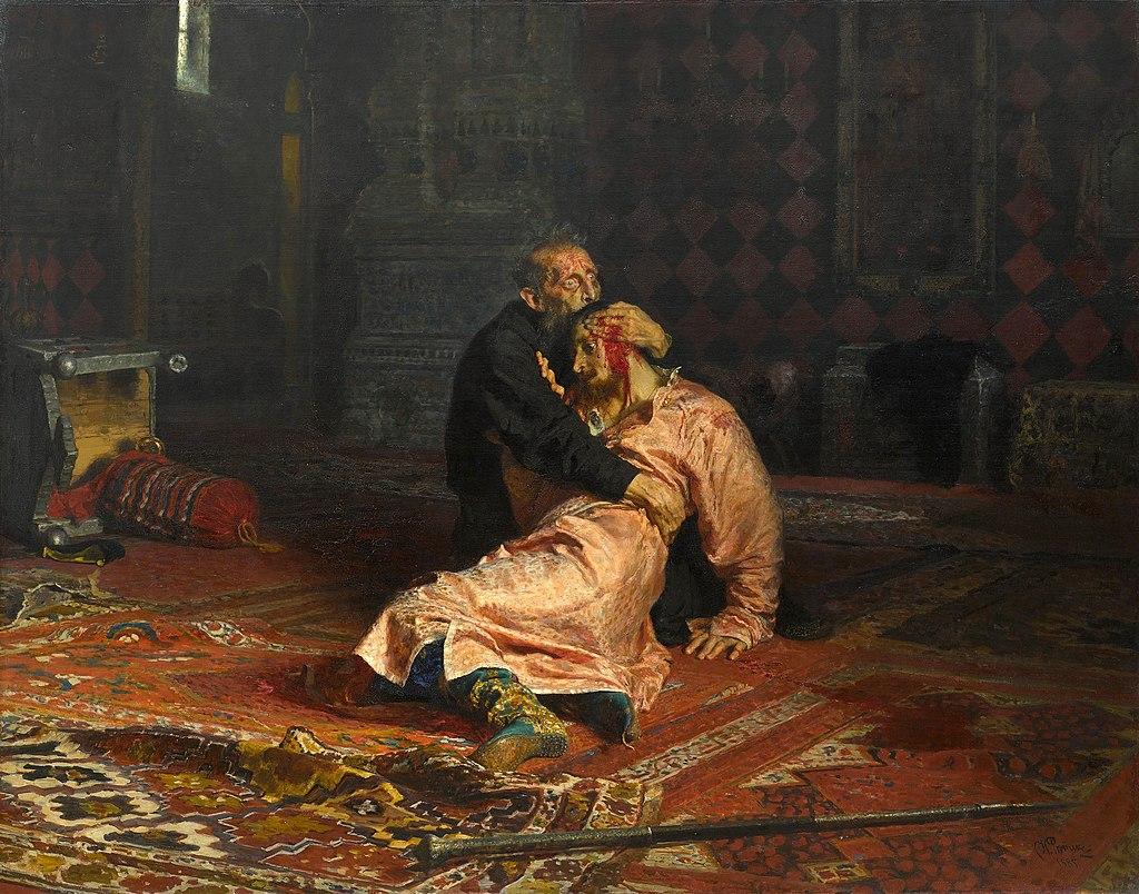 Илья Репин - Иван Грозный и сын его Иван 16 ноября 1581 года