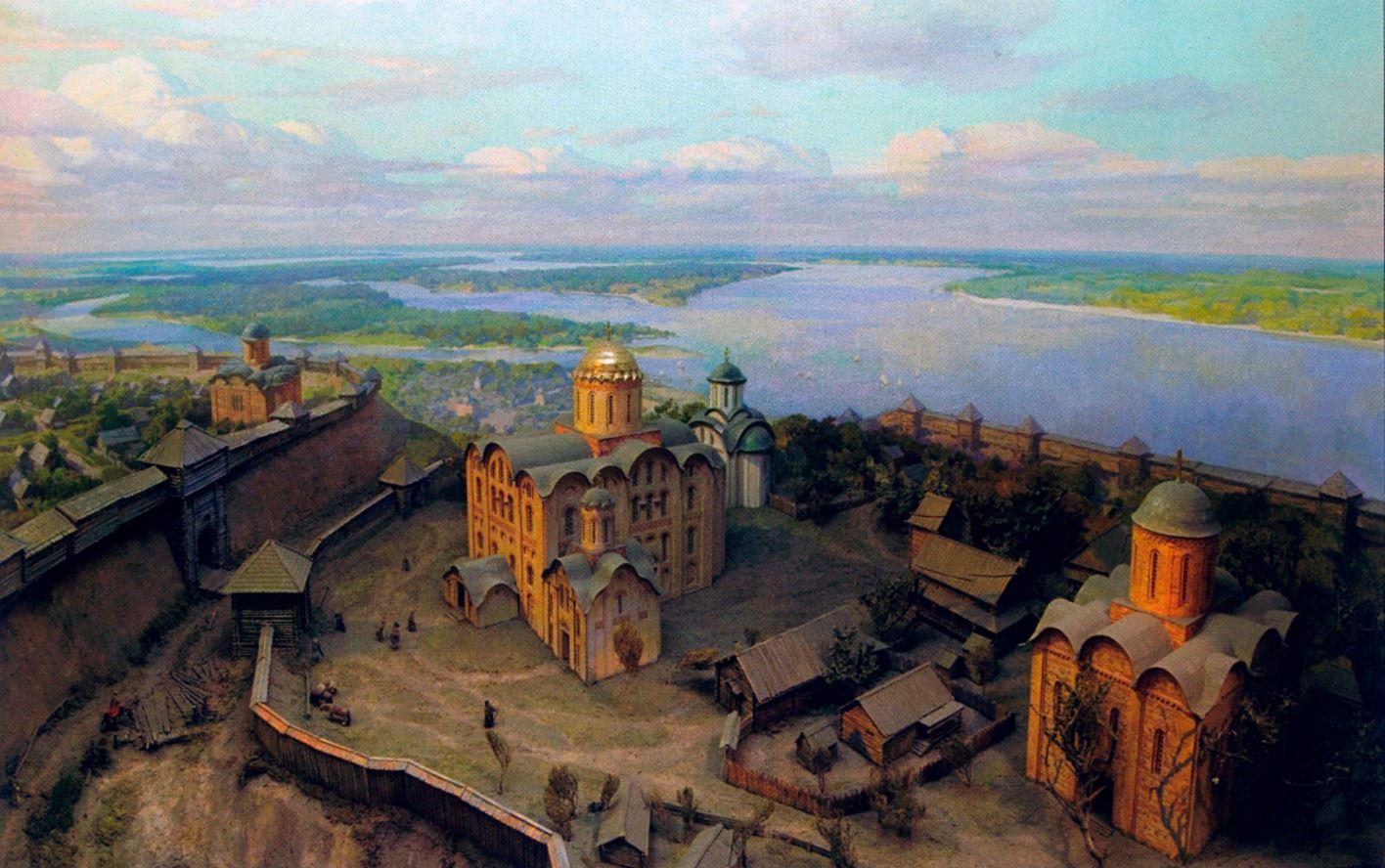 Димитриевский монастырь - Диорама Древнего Киева из Национальном музее истории Украины, 2001