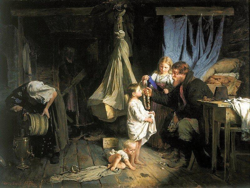 Алексей Корзухин - Возвращение из города, 1870