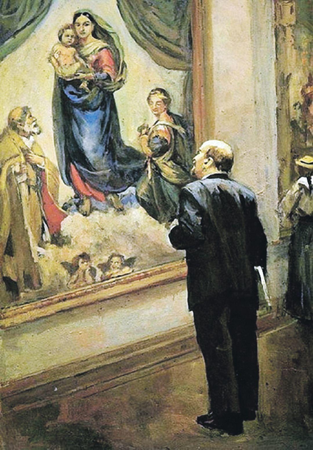 Налбандян Д.А. - В.И. Ленин в Дрезденской картинной галерее в 1914 году, 1962