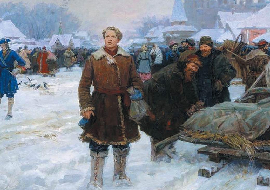 А. И. Васильев. «Приезд М. В. Ломоносова в Москву». 1960