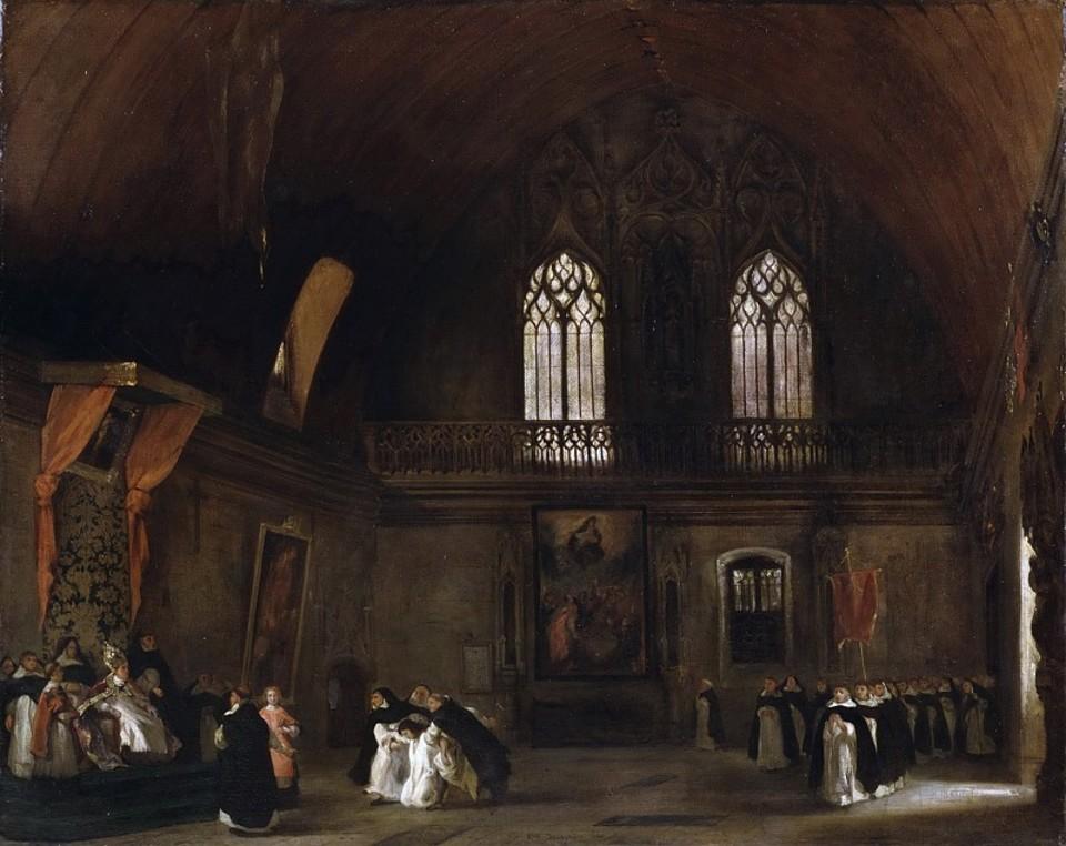 Эжен Делакруа«Доминиканский монастырь в Мадриде (по роману Ч. Метьюрина Мельмот-скиталец)», 1831