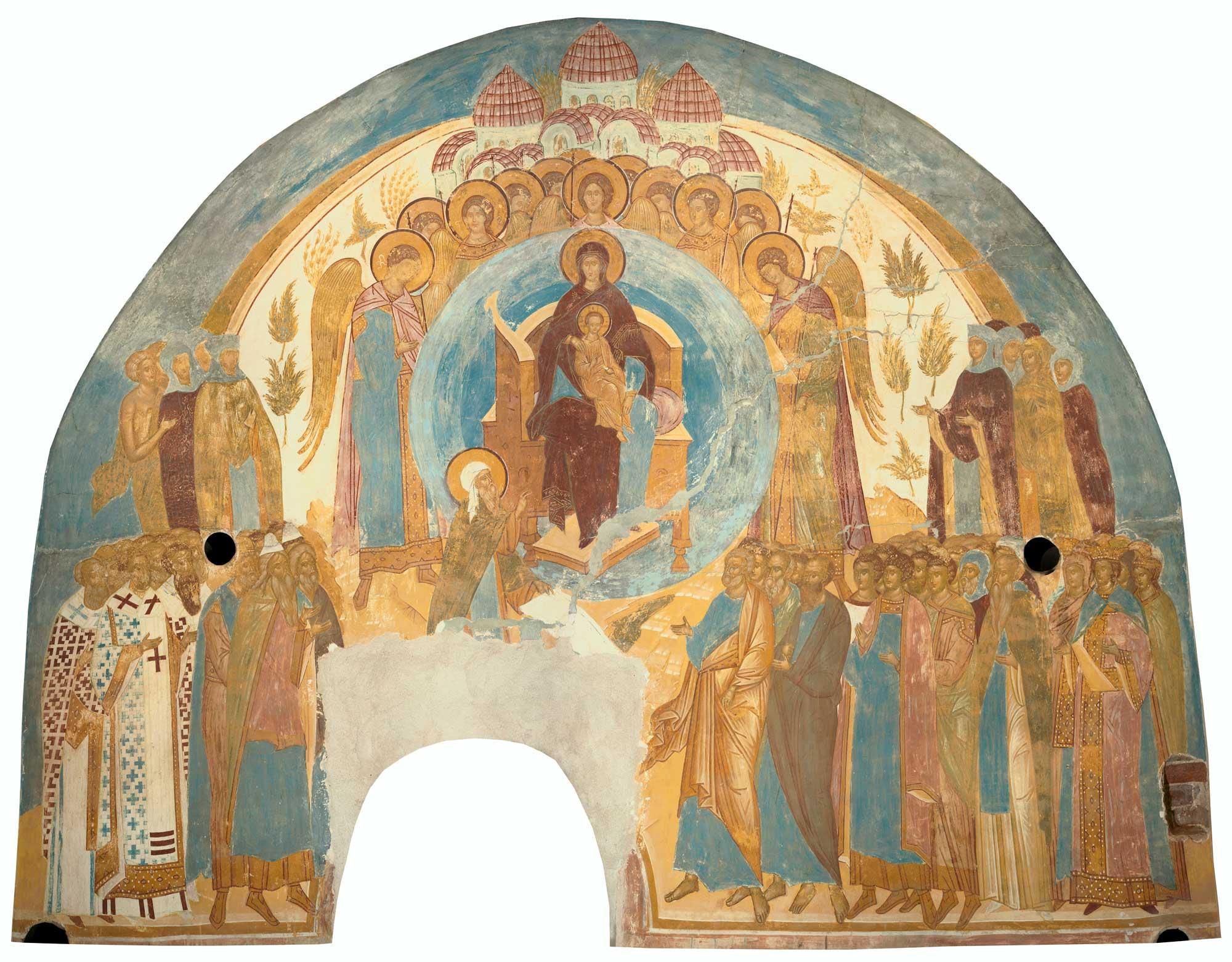Дионисий - фреска О Тебе радуется, 1502