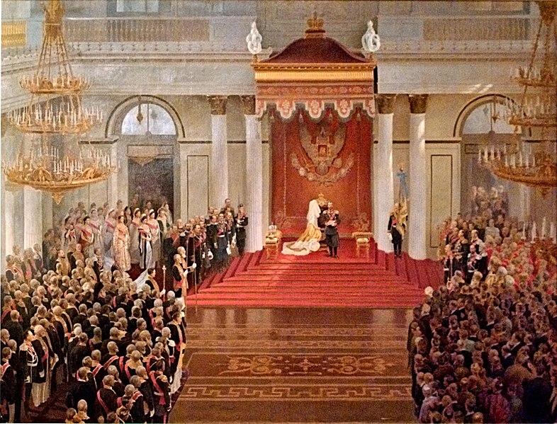 Владимир Поляков - Тронная речь императора Николая II во время открытия I государственной думы в Зимнем дворце 27 апреля 1906 года, 1909
