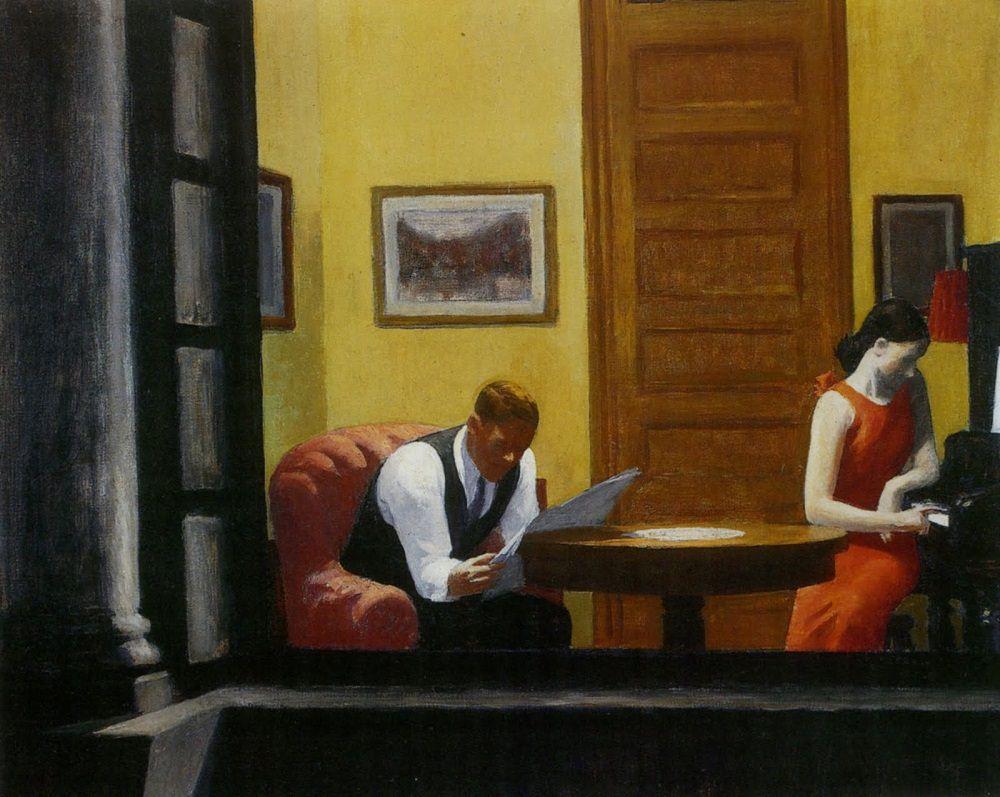 Эдвард Хоппер - Комната в Нью-Йорке, 1932