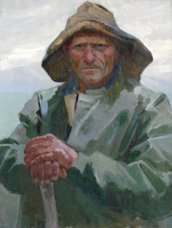 Иван Рыбачук - Портрет раздельщика китов Ф.А. Бугера, 1961