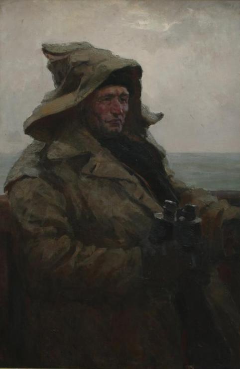 Иван Рыбачук - Портрет гарпунера Курамагометова, 1957?