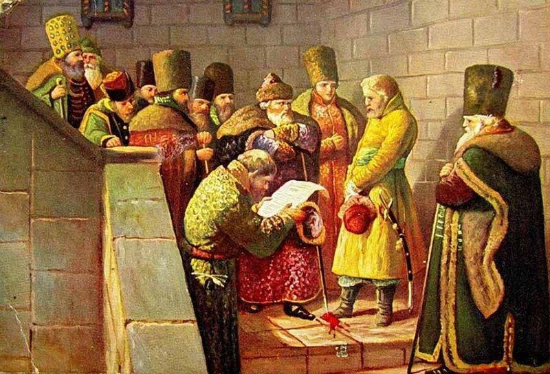 Вячеслав Шварц - Посол князя Курбского Василий Шибанов перед Иваном Грозным, 1862