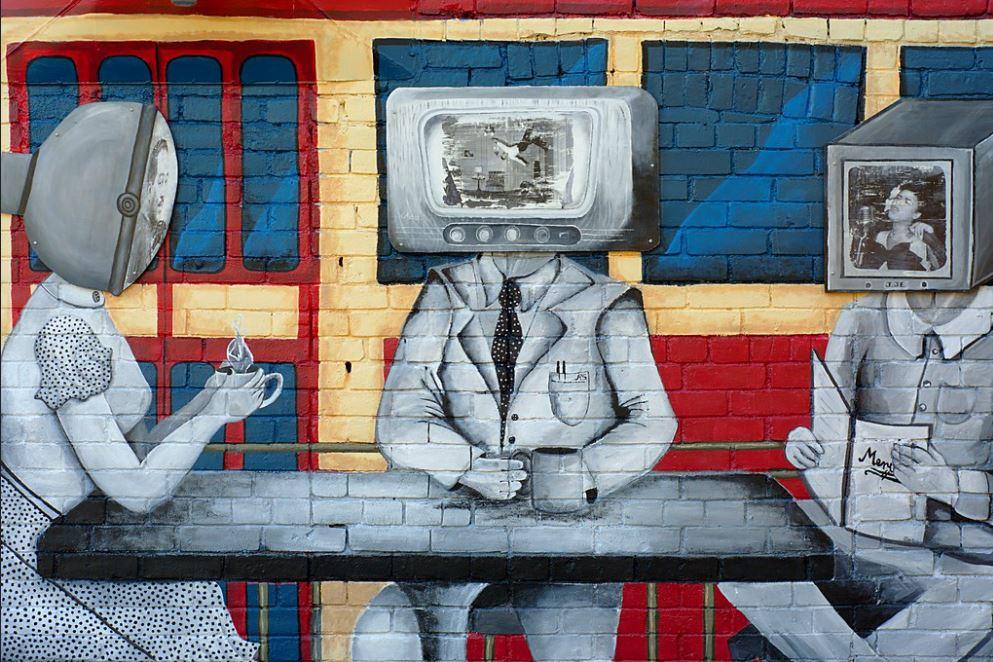 Мураль на стене ресторана OK OK Diner (Торонто), работа художников Центра Ральфа Тортона