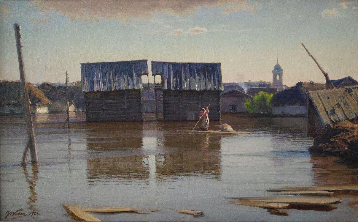 Яков Вебер - Наводнение, 1926